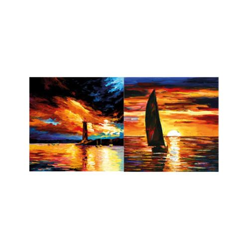 Romantic Sailing 2 Parça Kanvas Tablo 80X40 Cm