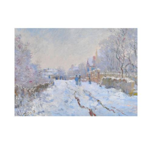 Snow Scene at Argenteuil 50x70 cm