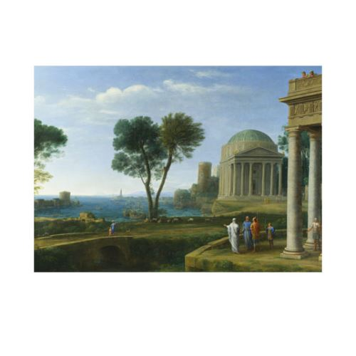 Landscape with Aeneas at Delos 50x70 cm