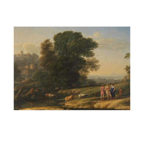 Landscape with Cephalus and Procris reunited by Diana 50x70 cm