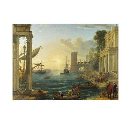 Seaport with the Embarkation of the Queen of Sheba 50x70 cm