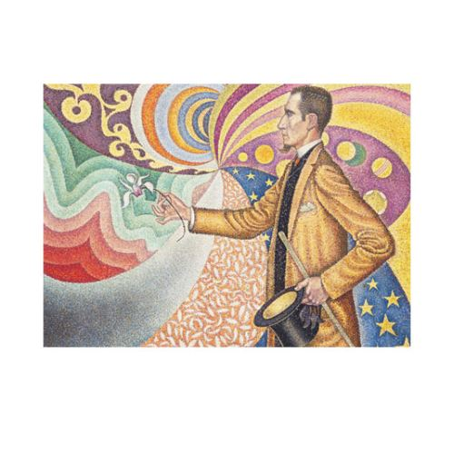 Paul Signac - Against the Enamel of a Background Rhythmic with Beats and Angle 50x70 cm