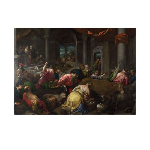 Jacopo Bassano - The Purification of the Temple 2 50x70 cm