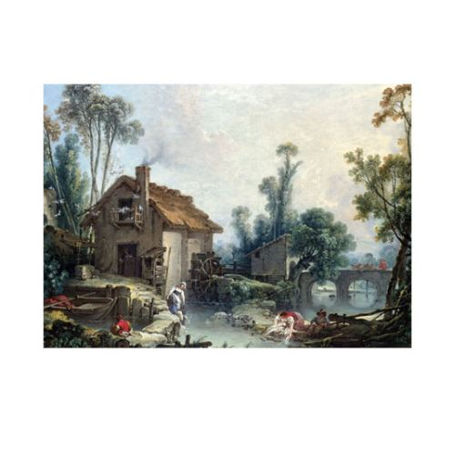 Francois Boucher - Landscape with a Watermill 50x70 cm