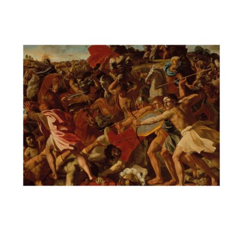 Poussin Nicolas - The Victory of Joshua over the Amalekites 50x70 cm