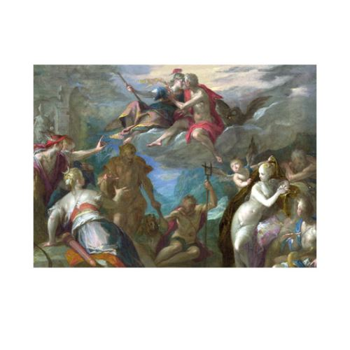 Hans Von Aachen - The Amazement Of the Gods 50x70 cm