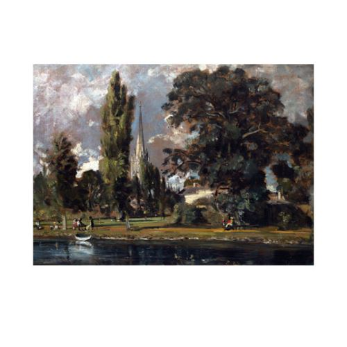 John Constable - Salisbury Cathedral and Leadenhall From the River Avon 50x70 cm