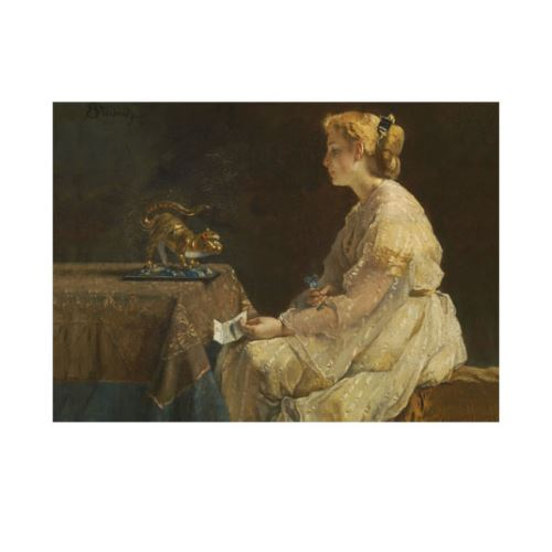 Alfred Stevens - The Present 50x70 cm