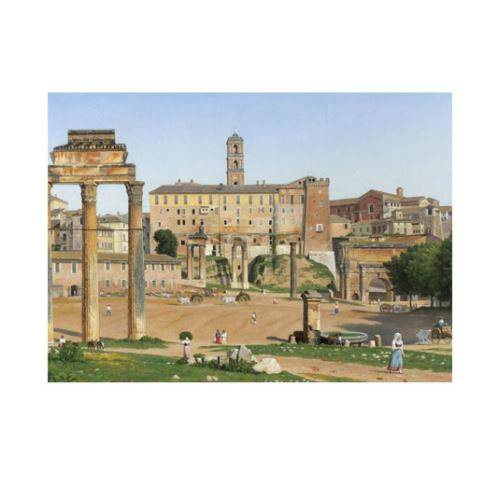 Christoffer Wilhelm Eckersberg - View of the Forum in Rome 50x70 cm