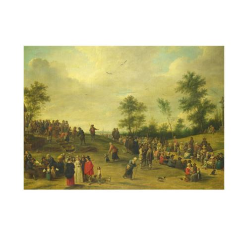 After David Teniers the Younger - A Country Festival near Antwerp 50x70 cm