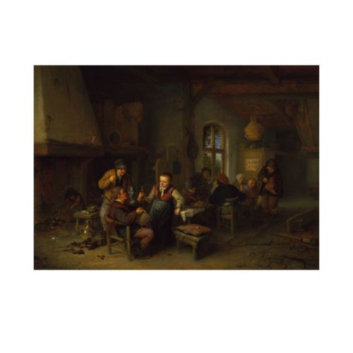 Adriaen Van Ostade - The Interior of an Inn 50x70 cm