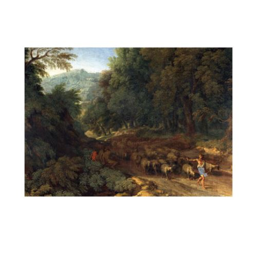 Gaspard Dughet - Landscape With a Shepherd and His Flock 50x70 cm
