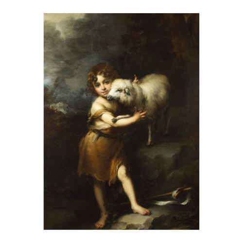 Bartolomé Esteban Murillo - The Infant Saint John with the Lamb 50x70 cm