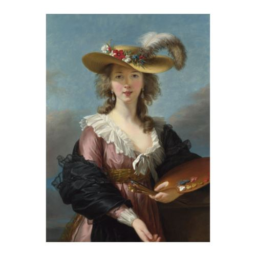 Elizabeth Louise Vigée Le Brun - Self Portrait in a Straw Hat 50x70 cm