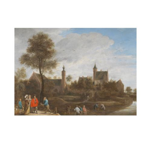 David Teniers the Younger - A View of Het Sterckshof near Antwerp 50x70 cm