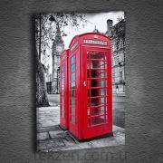 Artmoda Red Phone Kanvas Tablo,50X70 cm