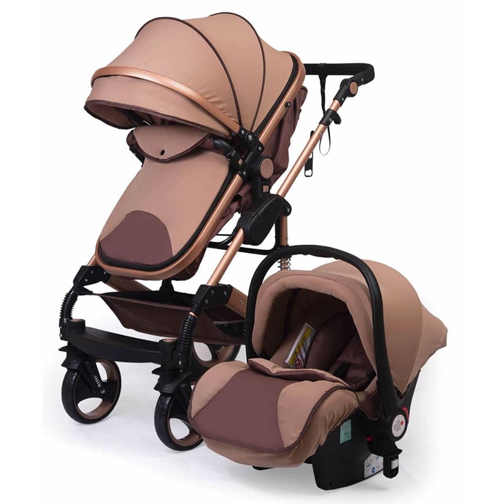 Baby Elf Gold Kasa Travel Sistem Bebek Arabasi Kahverengi Tekzen