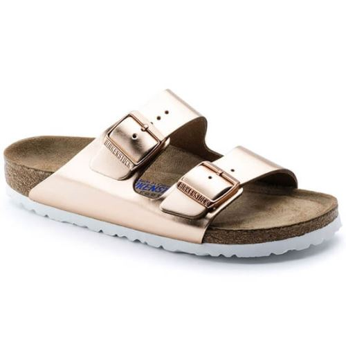 Birkenstock Terlik - Kadin - Arizona - SFB Metallic Copper - 36