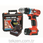 Black&Decker Şarjlı Matkap 2 Li-on Çift Akülü  EGBL108KB