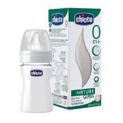 Chicco Natural Glass  240 ml Silikon Cam Biberon-0ay+