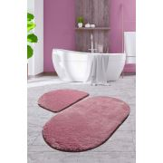 Chilai Home Colors Of Oval 2'li Set Lila Banyo Takımı 60x100/50x60cm