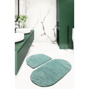 Chilai Home Colors Of Oval 2'li Set Mint Banyo Takımı 60x100/50x60cm