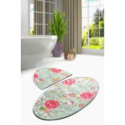 Chilai Home Lara Oval 2'li Set Banyo Paspası 60x100/50x60cm