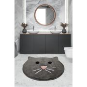 Chilai Home Cat Füme 90x90 cm Banyo Paspası