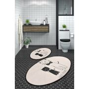 Chilai Home Little Cats Djt 2'Li Set Banyo Takımı 60x100/50x60cm