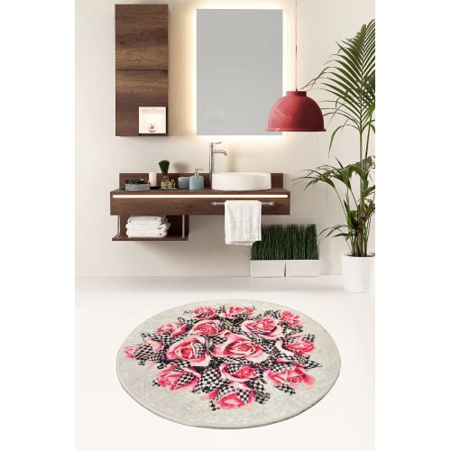 Chilai Home Magic Roses Djt Çap 140 cm Banyo Halısı
