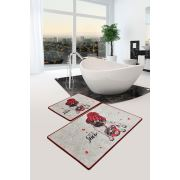 Chilai Home Let It Snow Djt 2'li Set Banyo Halısı 60x100 cm - 50x60 cm