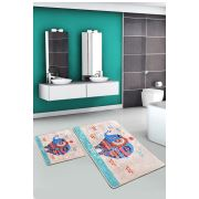 Chilai Home Etnic Rectangle Djt 2'li Set Banyo Halısı 60x100 cm - 50x60 cm
