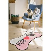 Chilai Home I Love Pug Djt Köpek Paspası 80x140 cm