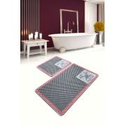 Chilai Home Polo Club Red Djt 2'li Set Banyo Halısı