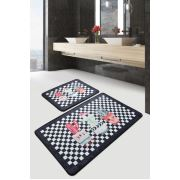Chilai Home Black Happy House Djt 2'li Set Banyo Halısı