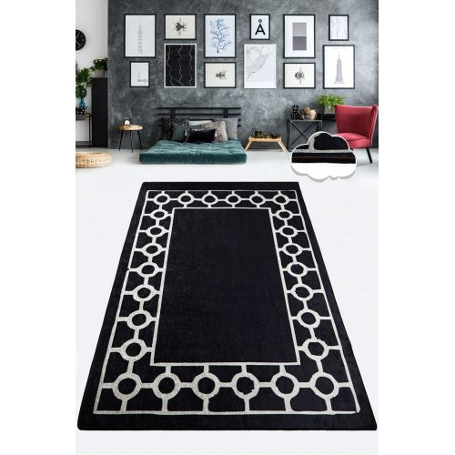 Chilai Home Bague Black Siyah Dekoratif Halı 80x300 cm