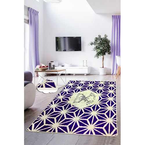 Chilai Home Bhpc Polo Purple Glow Mor Dekoratif Halı 140x190 cm
