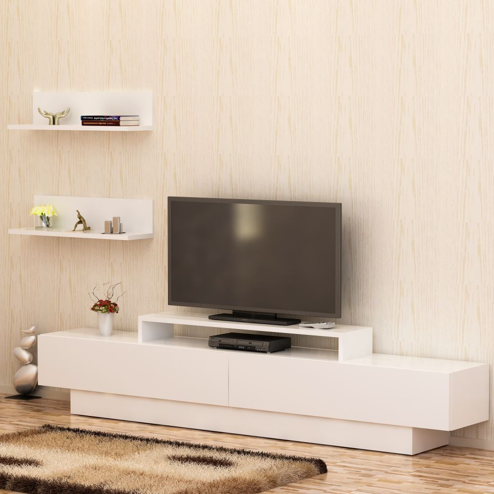 Decorotika Lusi Tv Nitesi Beyaz Beyaz Modelleri Ve Fiyatlar  # Melis Tv unitesi
