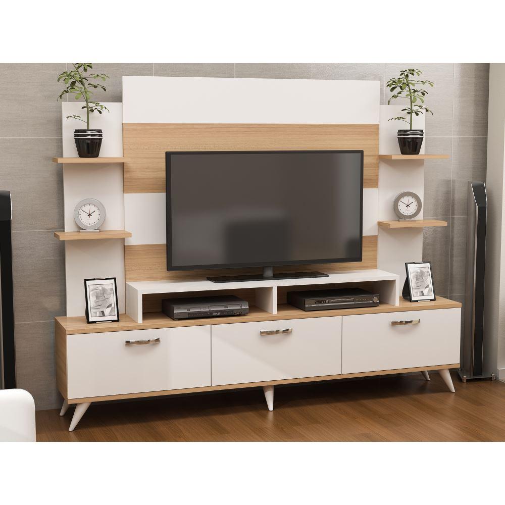 Diana Tv Nitesi Beyaz Teak Modelleri Ve Fiyatlar Tekzen # Melis Tv unitesi