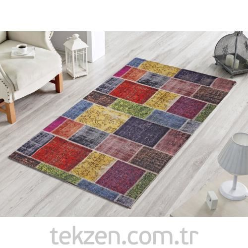 Dekoreko Halı Patchwork Multi Color 80x120 cm