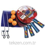 Delta Ds 980 Cyclone Masa Tenisi Multi-Set -4 Raket (3 Star)+4 Top+Ağ & Demir