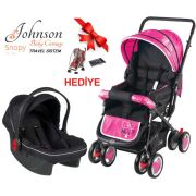 Johnson Snopy Travel Sistem Bebek Arabası Pembe