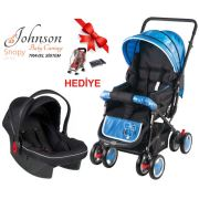 Johnson Snopy Travel Sistem Bebek Arabası Mavi