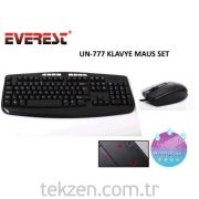 Everest Un-777 Siyah Usb Q Multi-media Klavye + Mouse Set