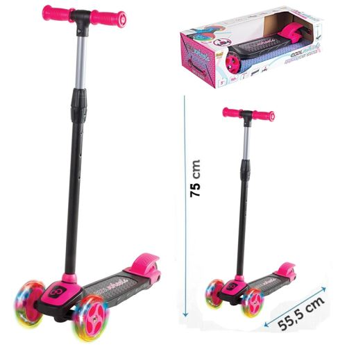 FRK Cool Wheels 3 + Yaş Twist LED Işıklı 3 Tekerlekli Scooter Pembe