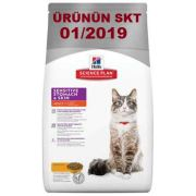 Hills Adult Sensitive Stomach&Skin ChickenKedi Maması 1,5 Kg