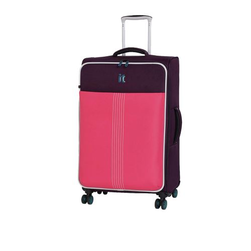 IT Luggage Battal Boy Kumaş Pembe Mor 02145