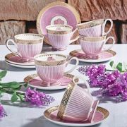 Konstar 11854 Bone China Fincan Seti Pembe