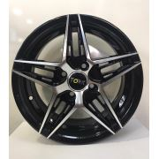 Megatork Tork-3350 6x14 4x100 ET35 73.1 Black Machined