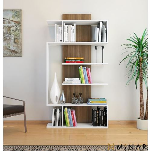 minar joke kitapl k beyaz ceviz bbh278 tekzen. Black Bedroom Furniture Sets. Home Design Ideas